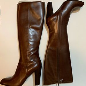 Cole Haan | Knee High Brown Heeled Boots | 8.5